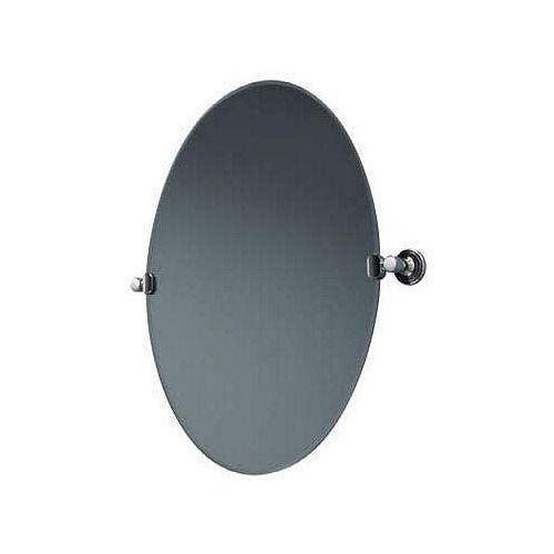 Waterford le Miroir de Pivot Biseauté Ovale A Poli le Chrome
