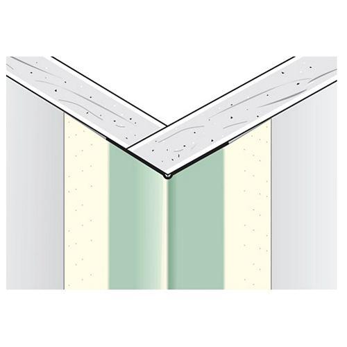 Perle de coin extérieur en métal recouvert de papier de la CCG, B1W 11/16 po x 11/16 po, jambe paire, 7 pi