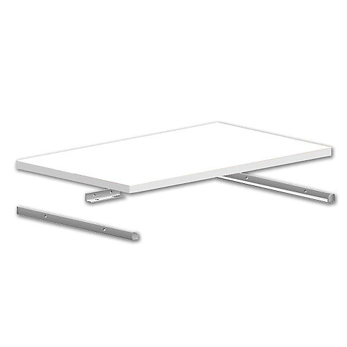14-inch  Selectives Metal Shelf Support Kit in White