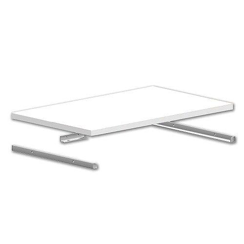 ClosetMaid Kit de support d'étagère en métal de 14 pouces sélectifs en blanc
