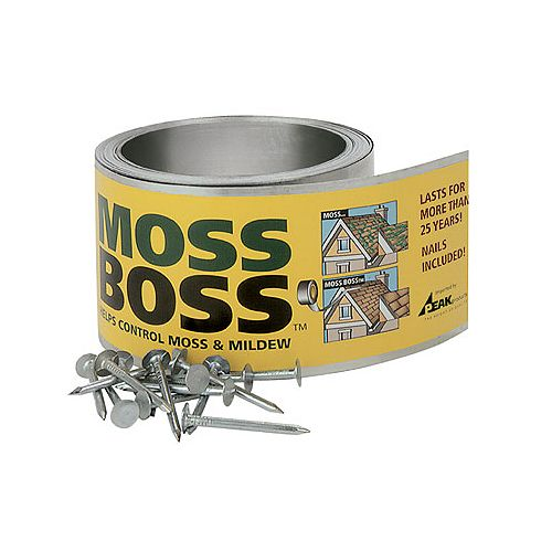 Peak Products Moss Boss 2 5/8-inch x 50 ft. Zinc Moss Killer