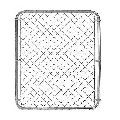 Barrière pour clôture de maille de chaînes - 60 pouces hauteur x 42 pouces largeur - Galvanisé