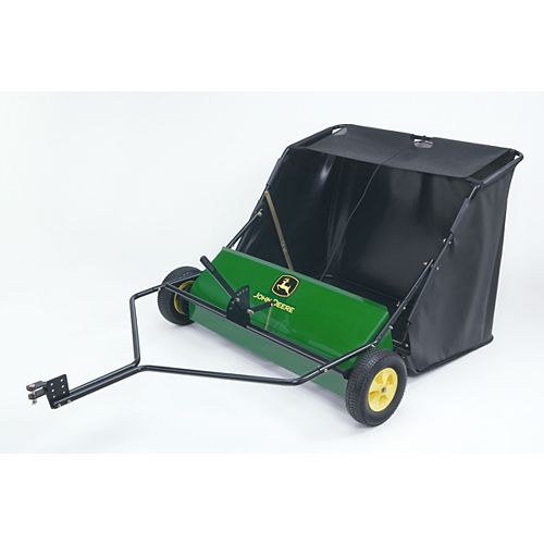 42-inch Tow-Behind Lawn Sweeper for Riding Mowers & Tractors