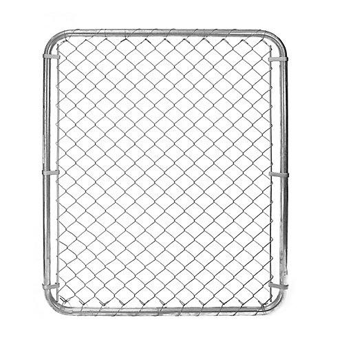 Barrière pour clôture de maille de chaînes - 48 pouces hauteur x 42 pouces largeur - Galvanisé