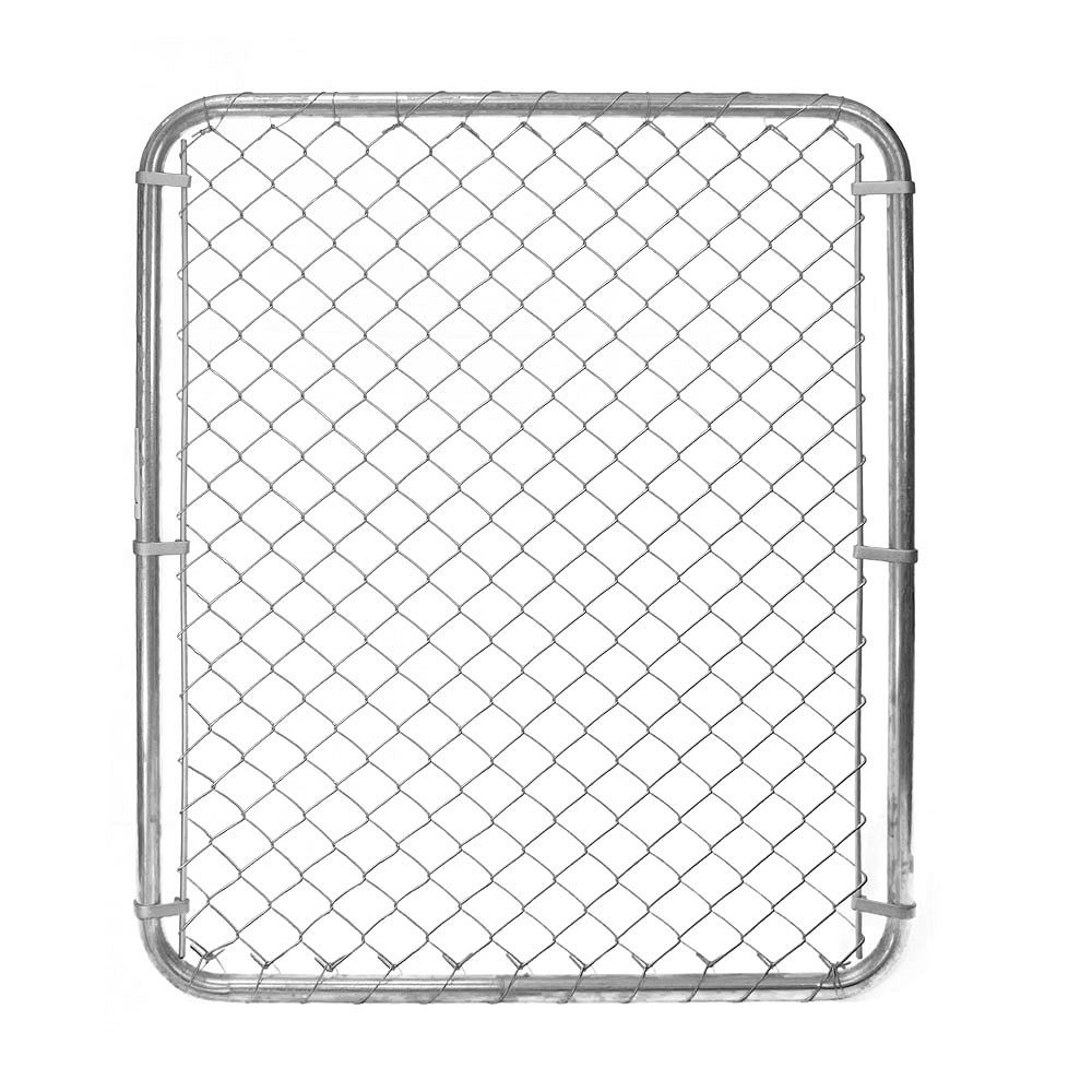 Peak Products 3 1/3 ft. W x 4 ft. H x 1 3/8-inch D Galvanized Steel Chain Link Fence Gate with 2-inch Mesh Opening