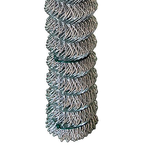 Grillage clôture maille de chaînes - 48 pouces hauteur x 50 pieds - Galvanisé - quadrillé 2 pouces x 2 pouces