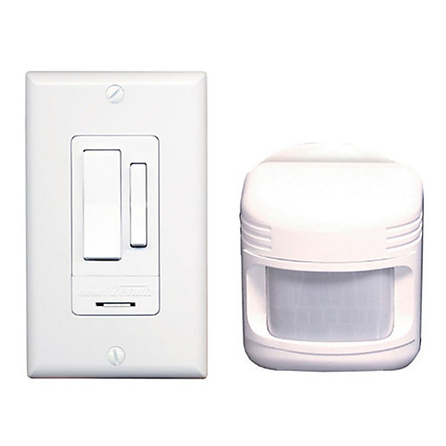 Motion Activated Light Switch - White