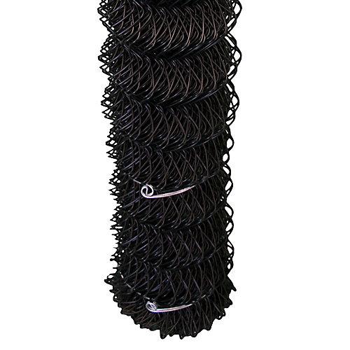 Grillage de clôture de maille de chaînes - 60 pouces hauteur x 50 pieds - Noir - quadrillé 2 pouces x 2 pouces
