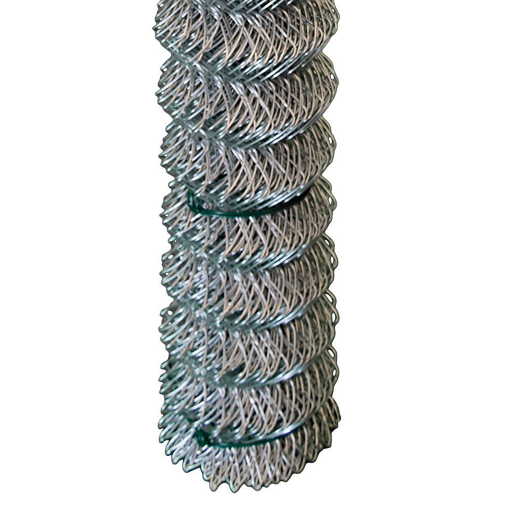 Peak Products 50 ft. W x 5 ft. H Chain Link Fencing Mesh Roll in Galvanized Steel (2-inch Mesh Opening)