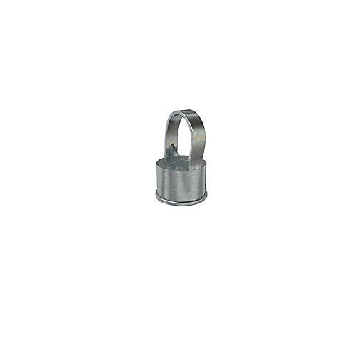 Poteau intermédiaire 1 1/2 pouce x 1 1/4 pouces - Capuchon de poteau - Clôture à mailles de chaîne - Galvanisé