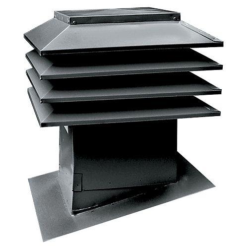 Sloped Roof Ventilator Model 301, Black