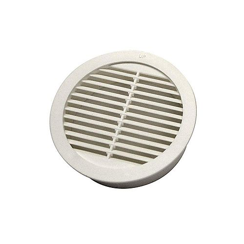 3-inch Resin Circular Mini Wall Louver Soffit Vent in White (4-Pack)