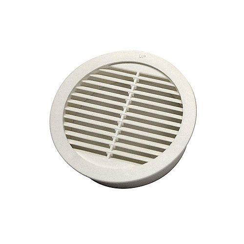 GAF Master Flow Mini-ventilateur mural circulaire en résine de 3 pouces en blanc (pack de 4)