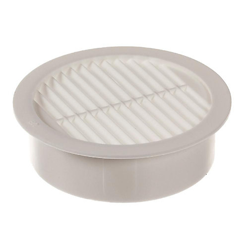 2-inch Resin Circular Mini Wall Louver Vent in White (6-Pack)