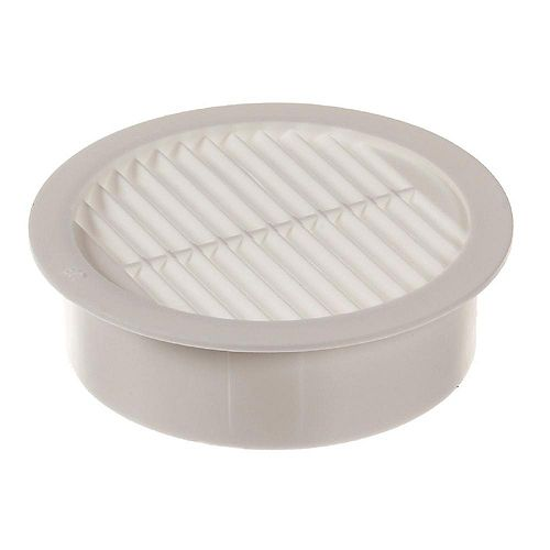 2-inch Resin Circular Mini Wall Louver Soffit Vent in White (6-Pack)