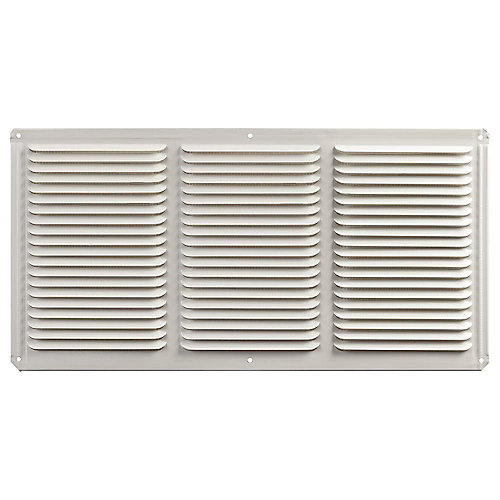 16 -inch x 8 -inch Aluminum Under Eave Soffit Vent in White