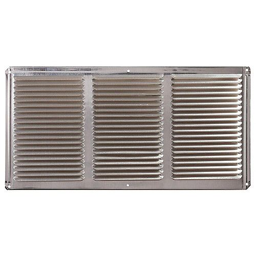 16-inch x 8-inch Aluminum Under Eave Soffit Vent in Mill
