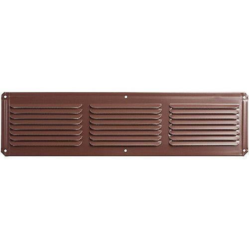 16-inch x 4-inch Aluminum Under Eave Soffit Vent in Brown