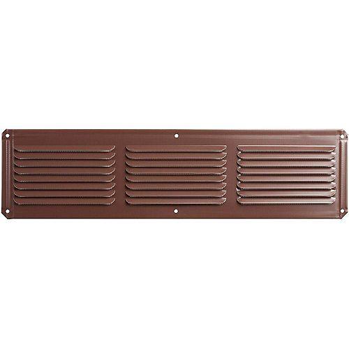 Évent de soffite sous l'avant-toit en aluminium de 16 pouces x 4 pouces en brun
