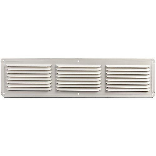 16 inch x 4 inch White Under Eave Vent Aluminum