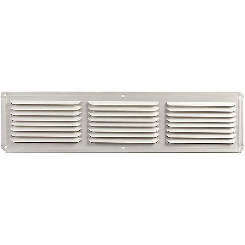 16-inch x 4-inch Aluminum Under Eave Soffit Vent in White
