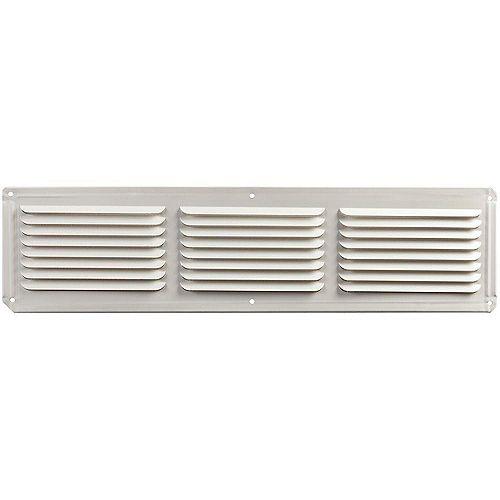 Évent de soffite sous l'avant-toit en aluminium de 16 pouces x 4 pouces en blanc