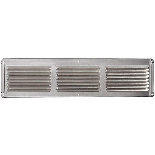 16-inch x 4-inch Aluminum Under Eave Soffit Vent in Mill