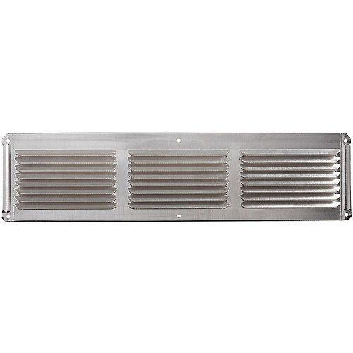 Évent en aluminium de 16 pouces x 4 pouces sous le soffite de l'avant-toit d'une usine