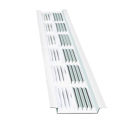 8 ft. Aluminum Under Eave Soffit Vent in White