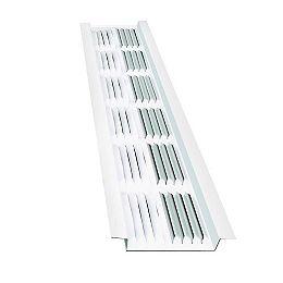 Bande d'aération de 8 pieds en aluminium sous l'avant-toit, en blanc