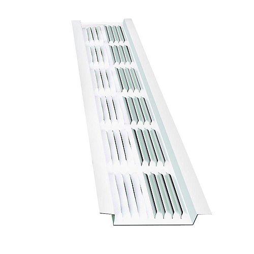 GAF Master Flow Bande d'aération de 8 pieds en aluminium sous l'avant-toit, en blanc