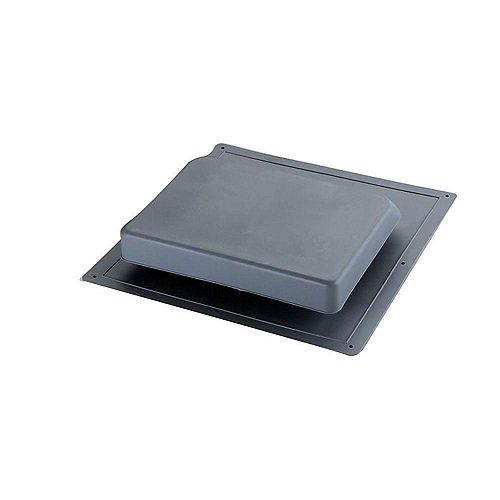 37-inch NFA High Impact Resin Super Low-Profile Slant Back Roof Louver Static Vent in Gray