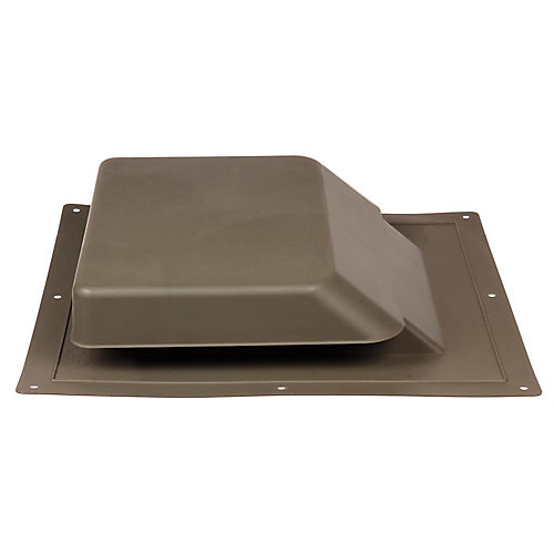 37 -inch NFA High Impact Resin Super Low-Profile Slant Back Roof Louver Static Vent in Brown