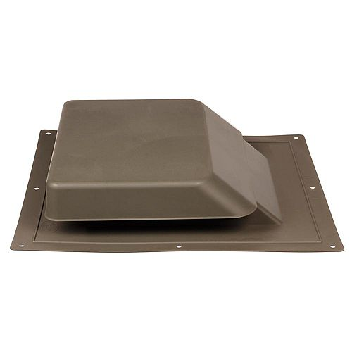 GAF Master Flow 37-inch NFA High Impact Resin Super Low-Profile Slant Back Roof Louver Static Vent in Brown