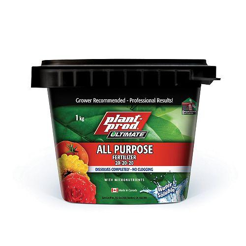 All Purpose Fertilizer, 20-20-20 - 1 kg