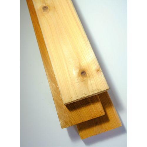 Cedar Planche de terrasse de qualité supérieure, 5/4 po x 4 po x 10 pi, cèdre