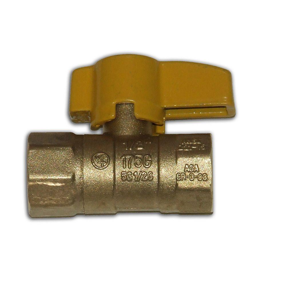 Waterline Straight Gas Ball Valve 1/2-inch x 1/2-inch FIP