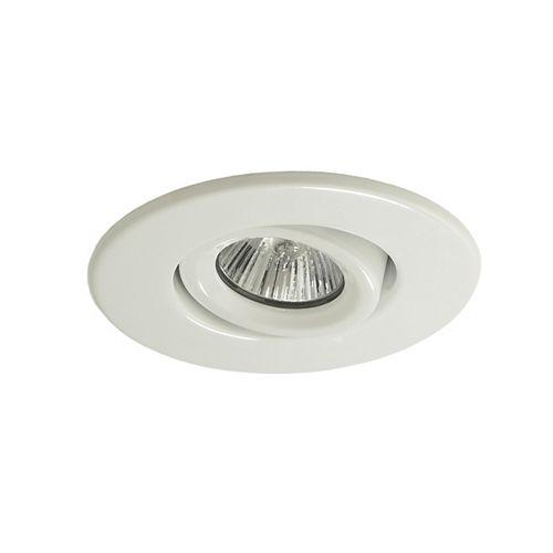 Luminaire affleurant 985GUWHT, GU10, garniture blanc brillant, ouverture de 10 cm