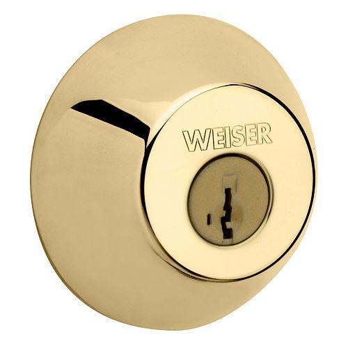 Weiser Brass Single Cylinder Deadbolt