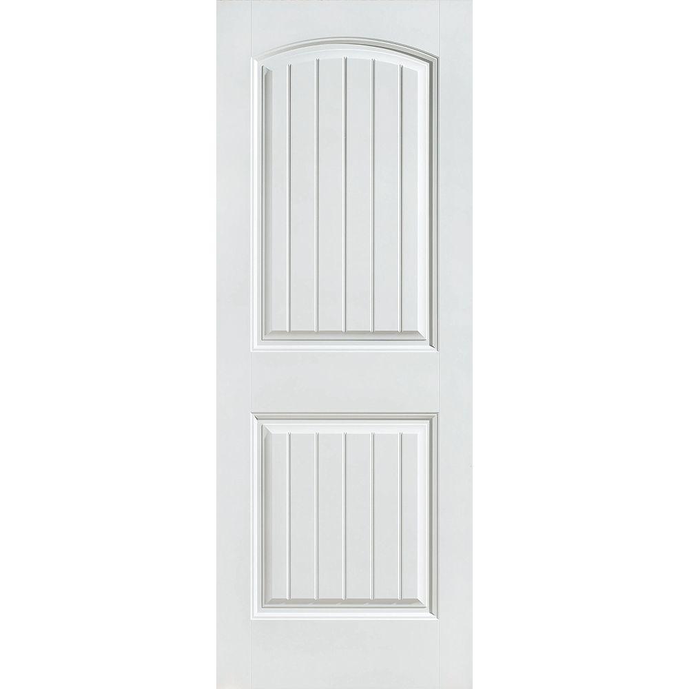 Masonite 24-inch x 80-inch Primed Smooth 2 Panel Plank Interior Door Slab