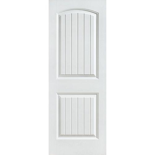 Masonite 28-inch x 80-inch Primed Smooth 2 Panel Plank Interior Door Slab