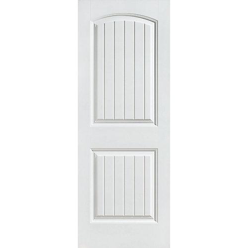 30-inch x 80-inch Primed Smooth 2 Panel Plank Interior Door Slab