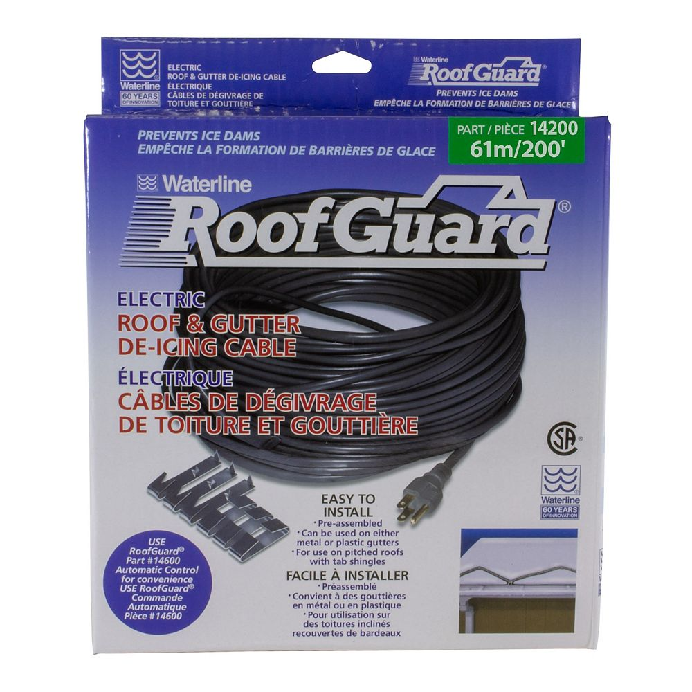Waterline 200 ft. Roof & gutter de-icing cable