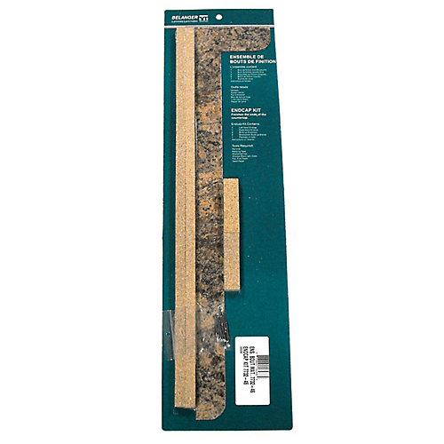 7732-46 Countertop End Cap Kit in Butterum Granite