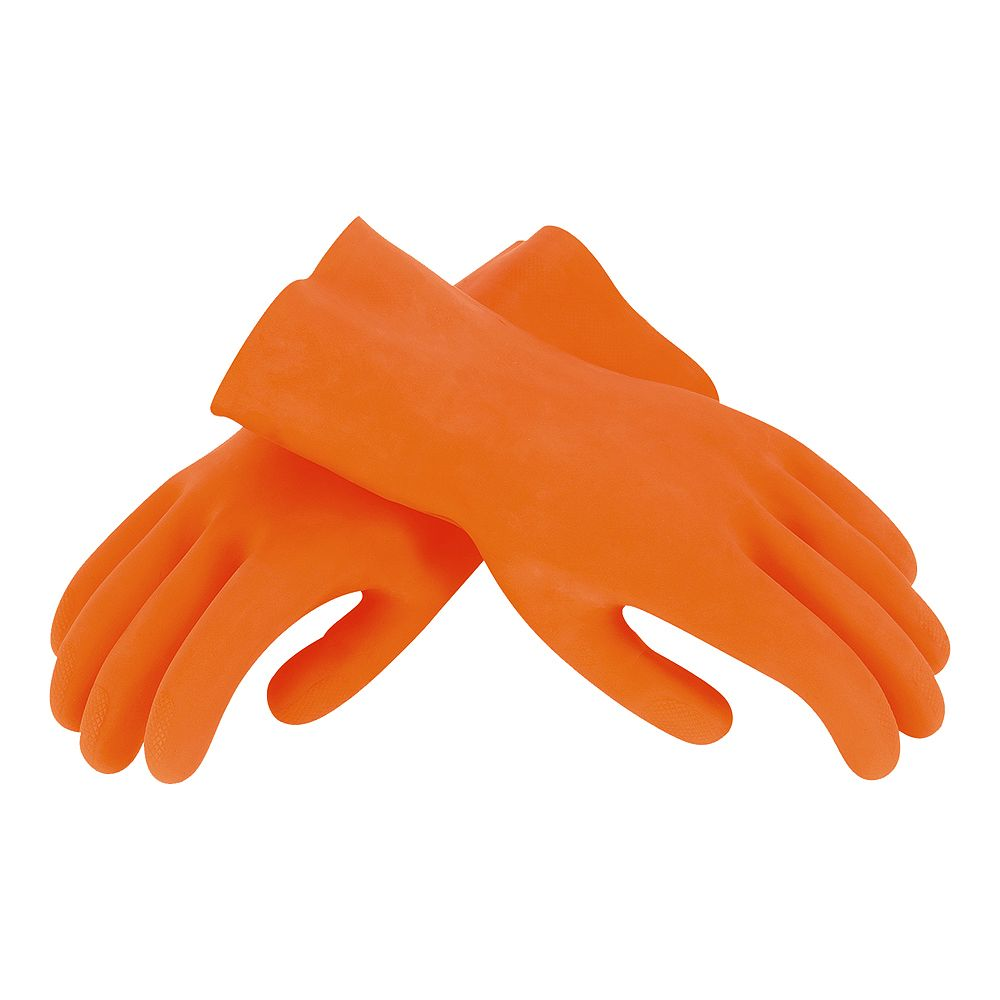 HDX Large Orange Heavy-Duty Grouting Gloves, One Pair