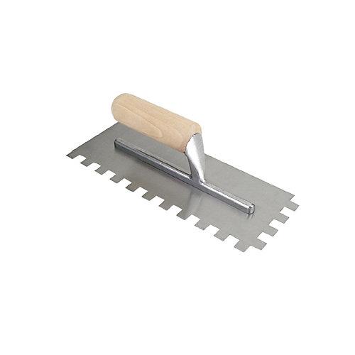 Truelle à dents carrées 1/2 po à plancher traditionnelle