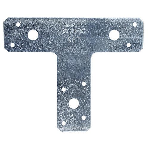 6 inch x 5 inch 14-Gauge Galvanized T Strap