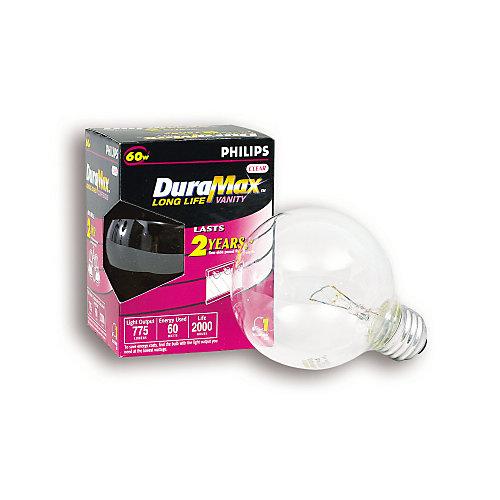 60 Watt G25 Clear Medium Incandscent Globe Light Bulb