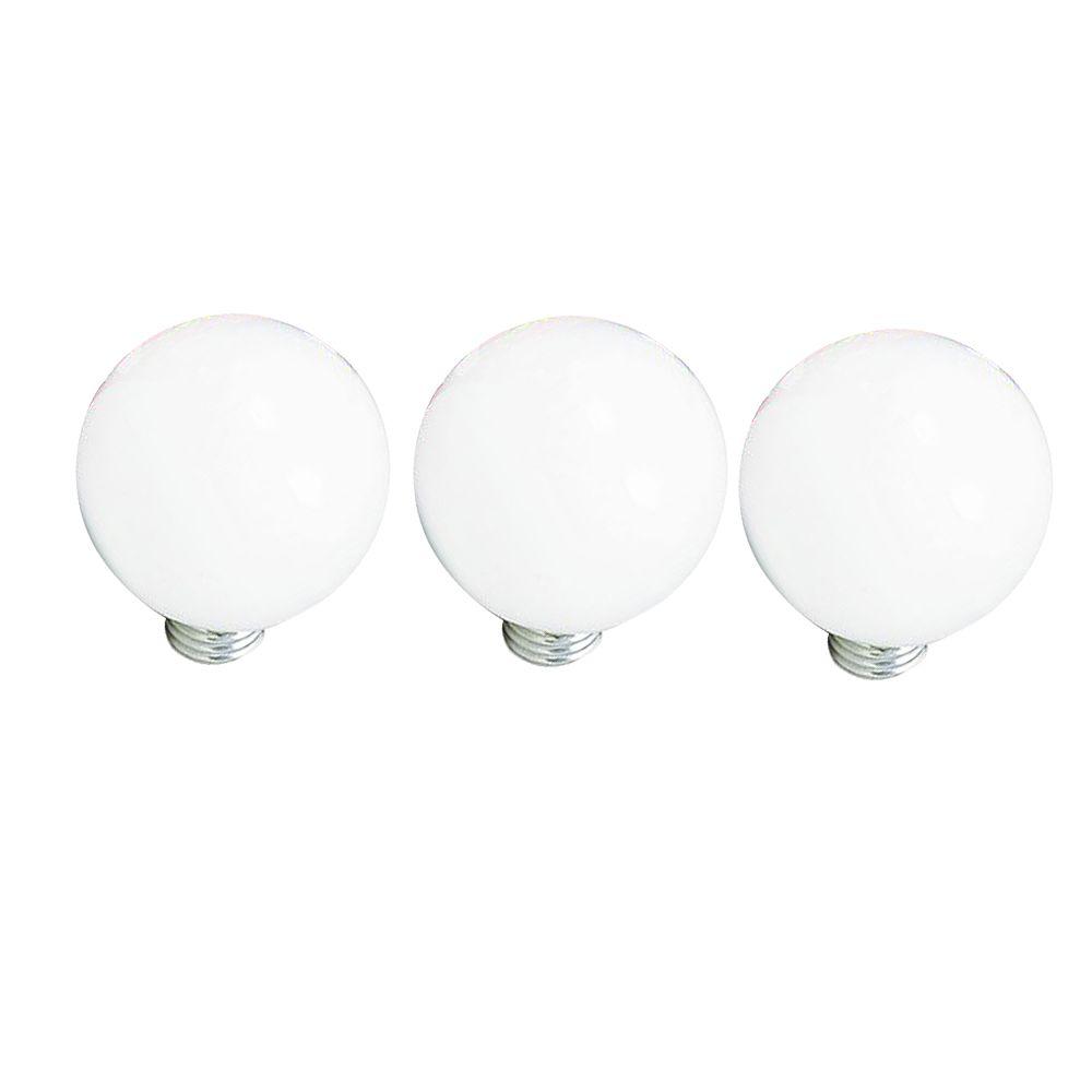 Philips Ampoule incandescente à culot moyen G25, 40 W, blanc, ens. de 3