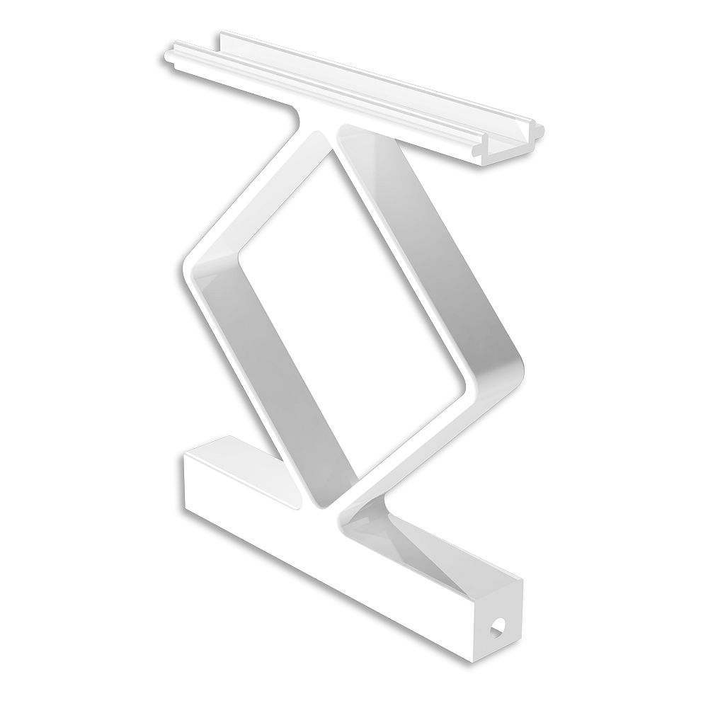 RailBlazers Decorative Aluminum Handrail Spacers in White (4-Pack)